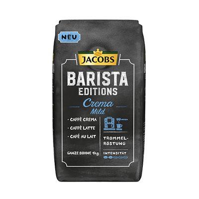 Jacobs Barista Crema MILD zrnková káva 1kg