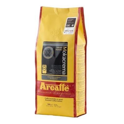 Arcaffe Mokacrema zrnková káva 1kg