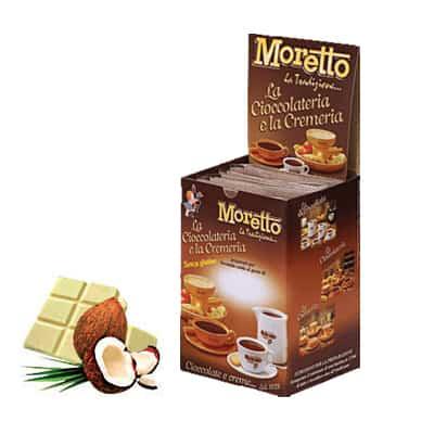 Čokoláda Moretto Biela - Kokos 12x25g