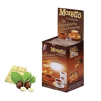 Čokoláda Moretto Biela - Oriešok 12x30g