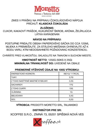 Čokoláda Moretto Klasická 50x25g