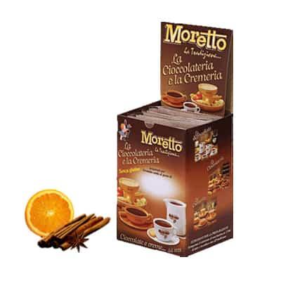 Čokoláda Moretto Pomaranč a Škorica 12x30g