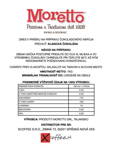 Moretto Klasicka cokolada